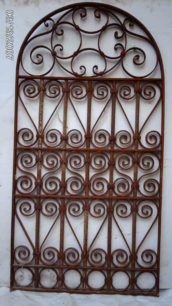Wrought Iron Victorian Gate Hanging Wall Garden Decor 7