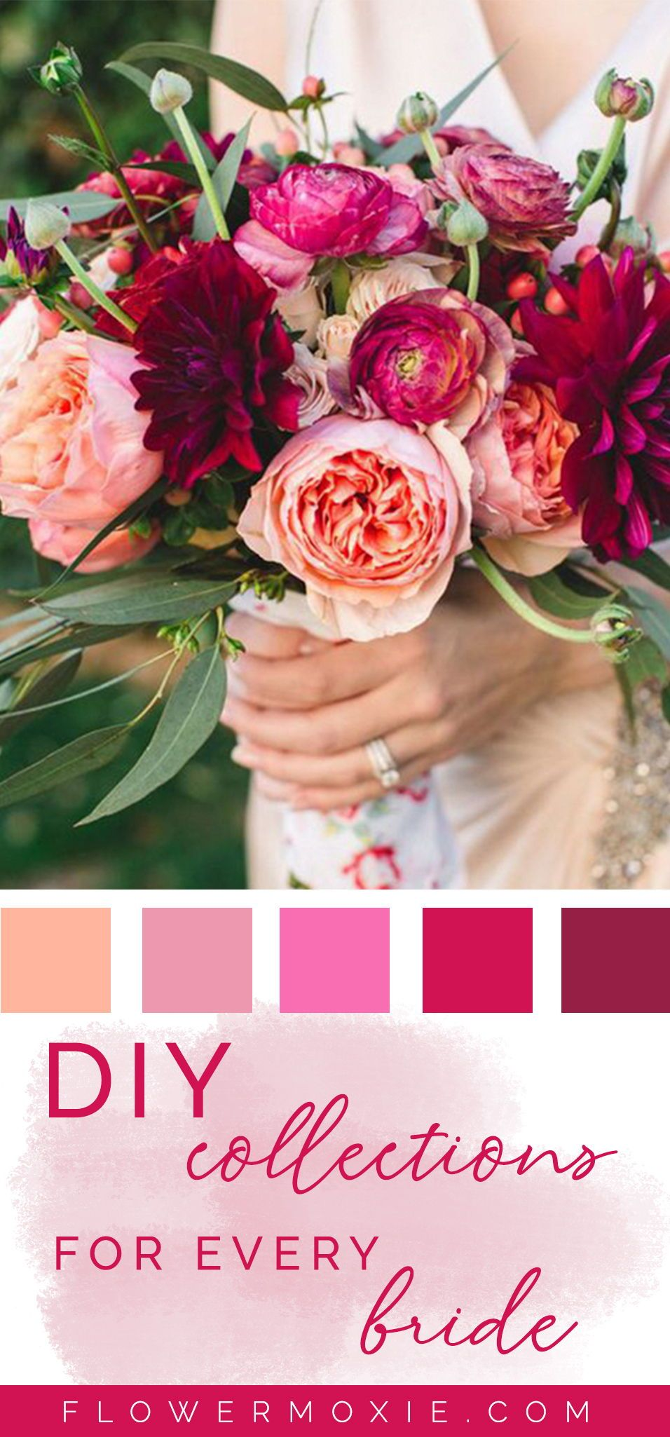 Get Inspired By Our Wedding Flower Packages Mix Match Flowers To Achieve The Look You Wan Diy Bridesmaid Bouquet Diy Wedding Bouquet Wedding Flower Packages