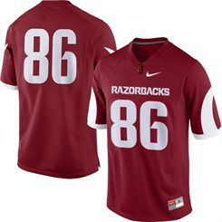 3c7d38693cf Arkansas Razorbacks Nike Youth No. 86 Game Replica Football Jersey –  Cardinal