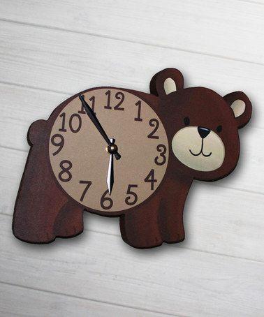 Look what I found on #zulily! Bear Clock #zulilyfinds