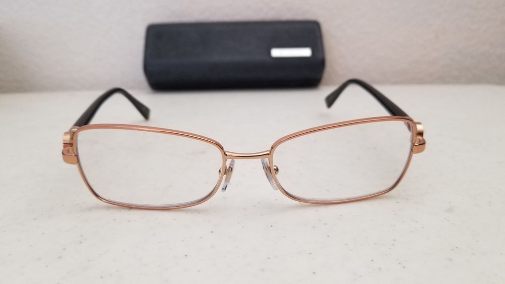 df0ae6794374  70.95 Bvlgari 2143-K 395 Eyeglasses Pink Gold Plated Frame Black Arms  52  16 135  Bvlgari