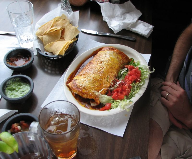 Dinner shot of a mexican dish at the restaurant aff