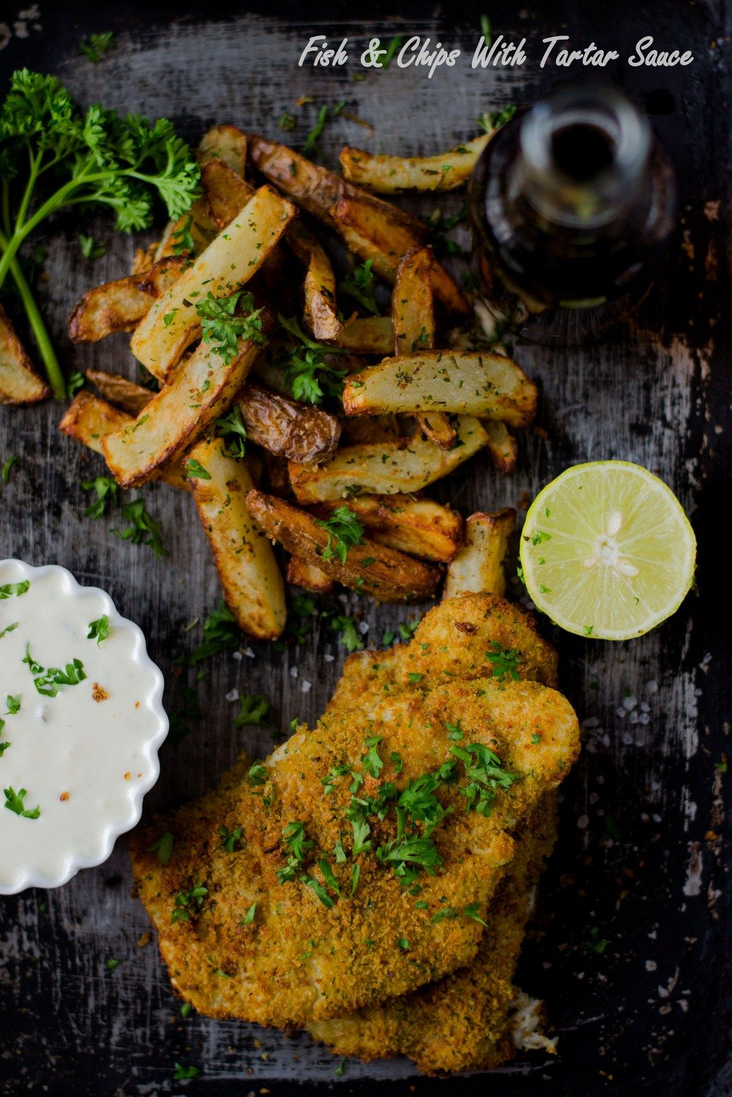 Fish & Chips With Tartar Sauce...The Airfryer Way Fish