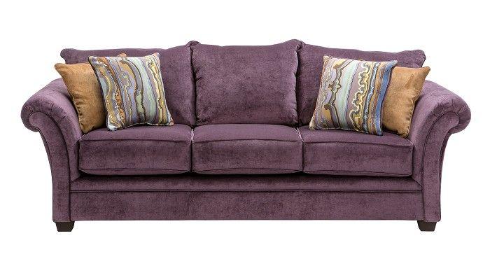 Slumberland furniture quimby collection plum sofa - Slumberland living room furniture ...