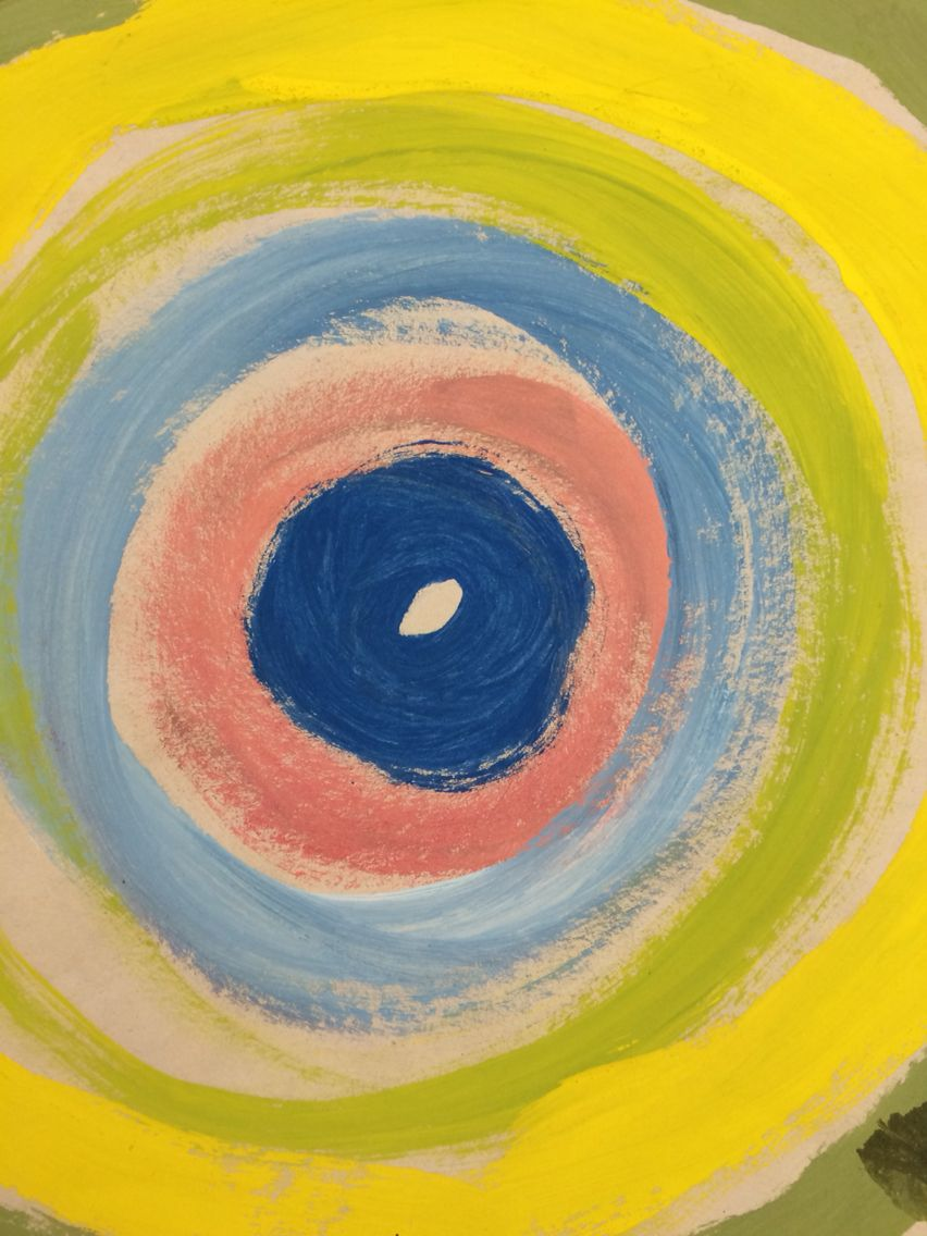 Concentric Circles With Alternating Warm And Cool Colors Great