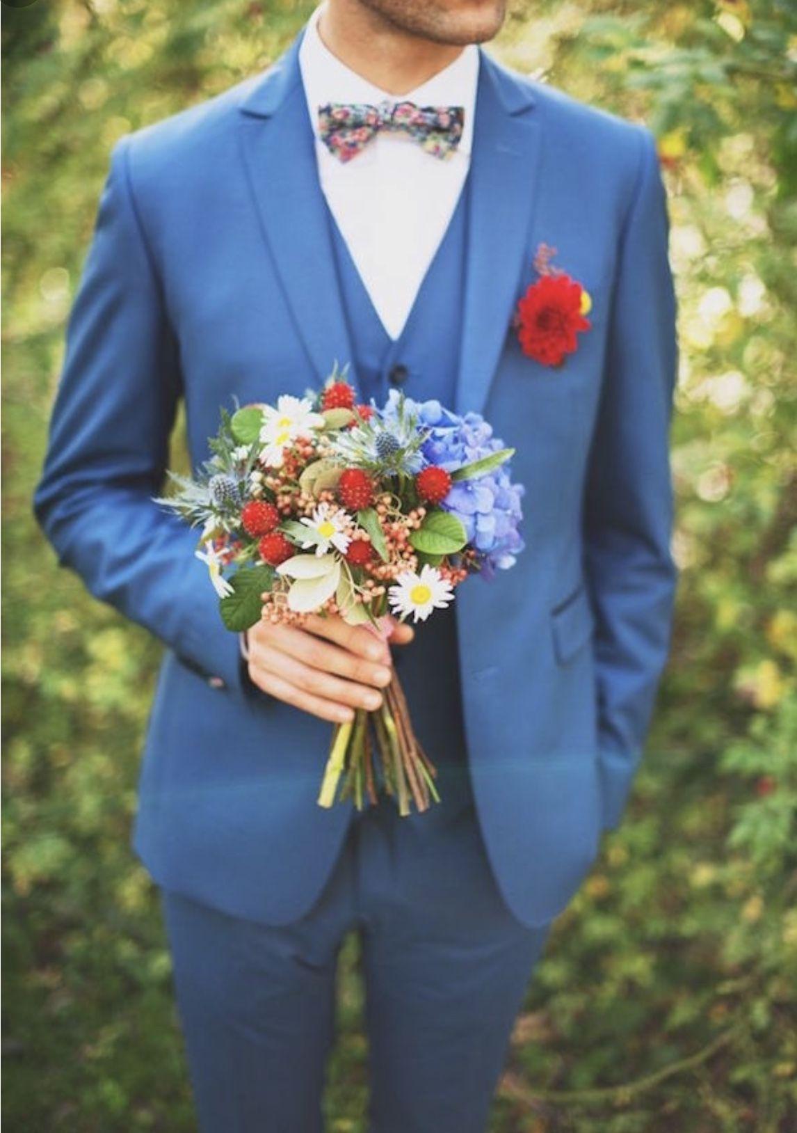 Pin by Adam Burney on Wedding shit Blue groomsmen suits