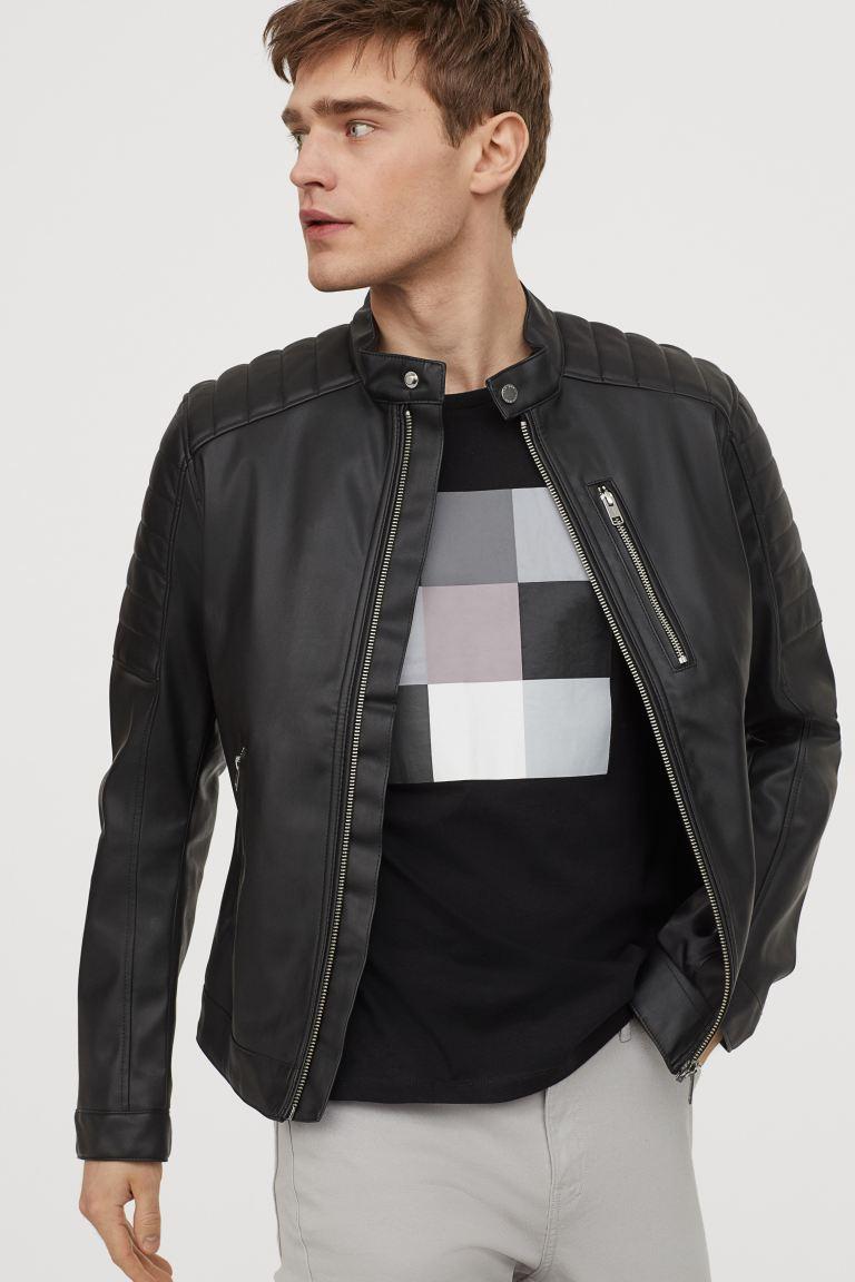 Biker Jacket Black H&M US in 2020 Biker jacket