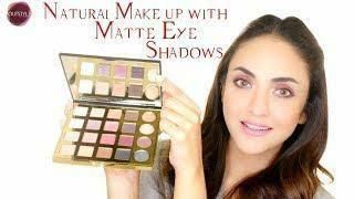 matte eyeshadow palette  quick natural makeup tutorial