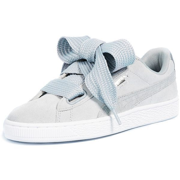 pretty nice 8cbb5 73991 PUMA Basket Heart Safari Sneakers ($91) ❤️ liked on ...
