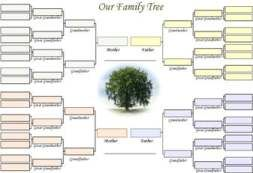 This style of family tree template charts four generations of \'Our ...