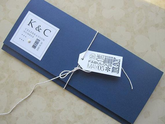 Custom Reserved Boarding Pass Wedding Invitation Package With