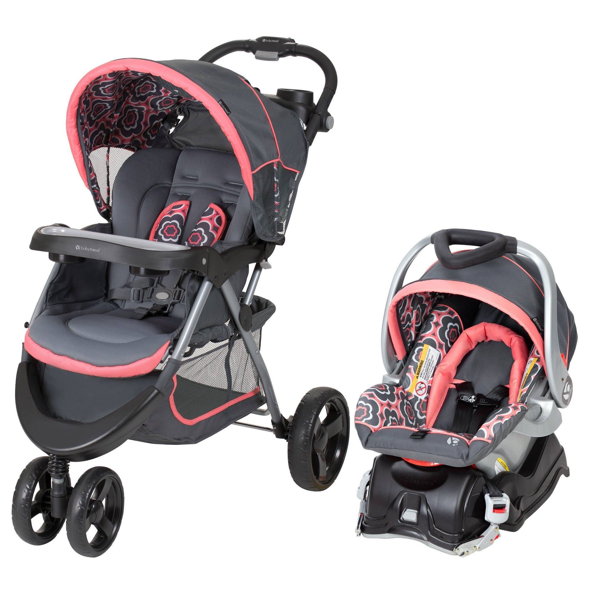 Baby Trend Nexton Travel System Coral Floral, Orange