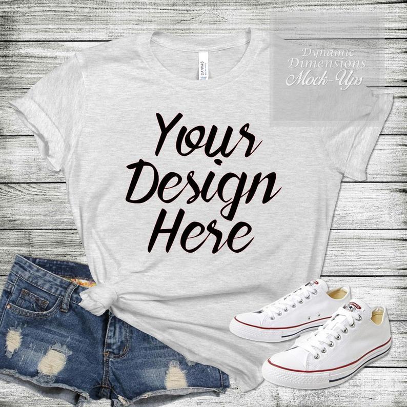 Download Bella Canvas 3001 White Unisex T Shirt Mock Up Shirt Template Etsy Shirt Template Shirt Mockup Shirts