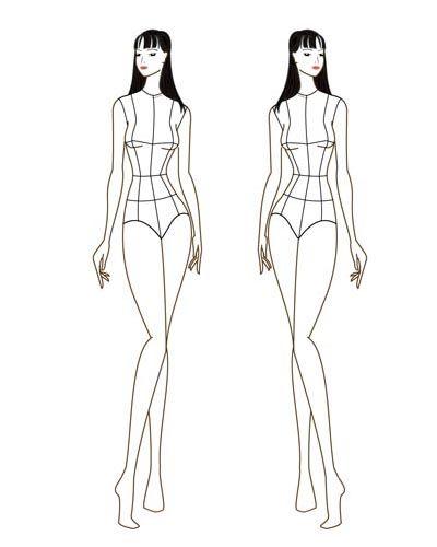 Female Fashion Croqui Template V13 Front View Designers Nexus Fashion Figure Templates Croquis Fashion Fashion Figures