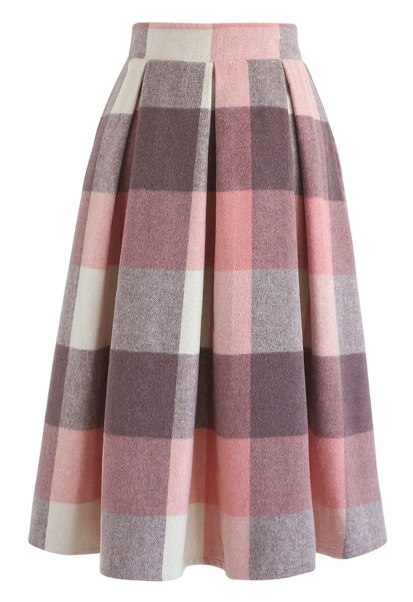 0db345e213 ... Velvet Skirt in Pink. - Pleated from waist - Concealed back zip closure  - Lined - 60% Acrylic, 40% Wool - Dry clean Size Length Waist XS cm 66 65  inch ...