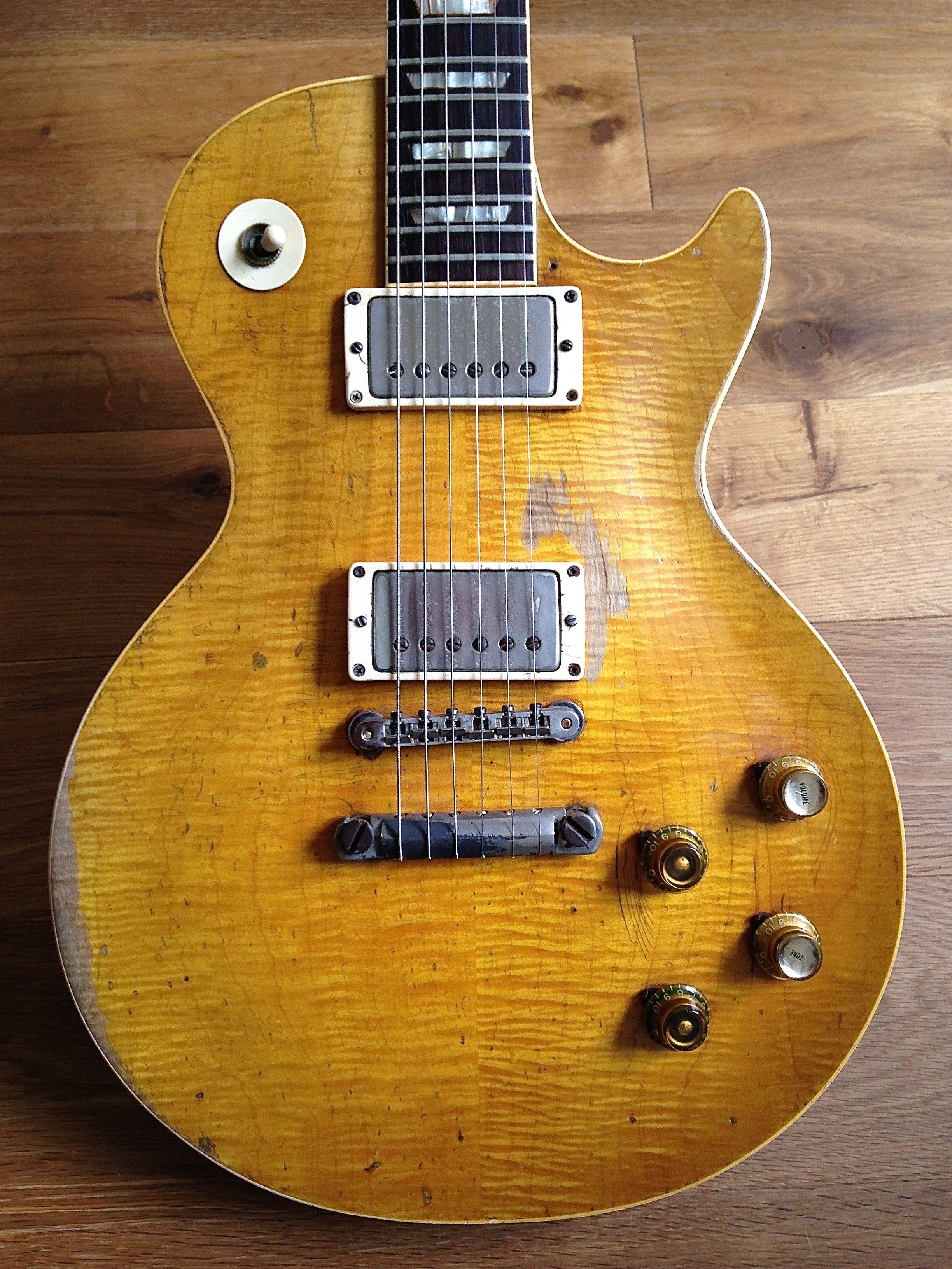 Gibson Les Paul 1959 Greeny Owned By Peter Green Then Gary Epi Vs Selector Switch Mylespaulcom Moore And Now Kirk Hammett