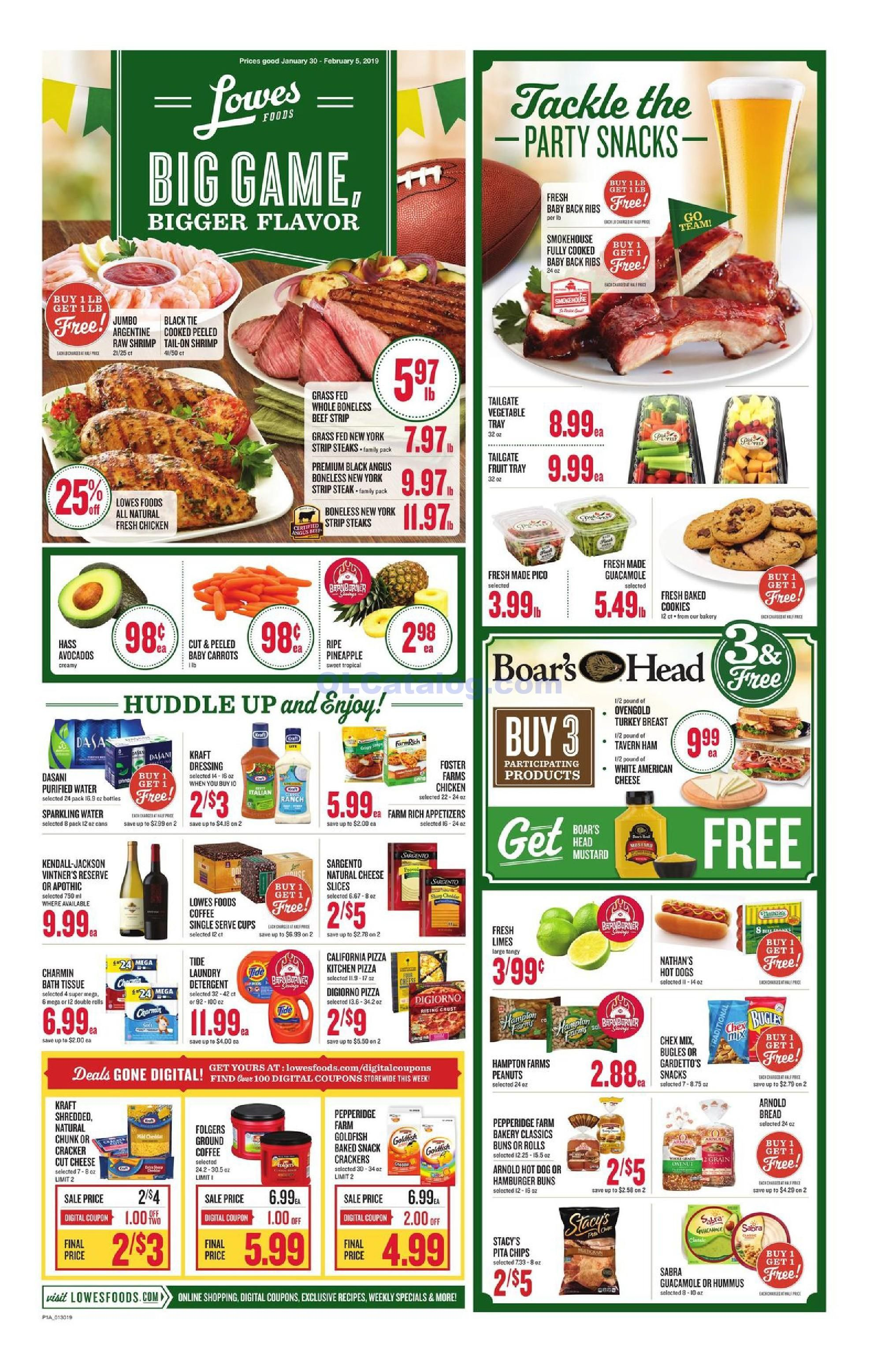 Lowes Foods Christmas Dinners 2020 Lowes foods Weekly Ad January 30 – February 5, 2019. View the