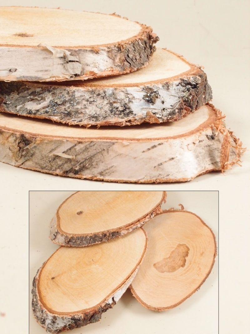 Dischi legno a fette circa shabby chic for Complementi d arredo shabby