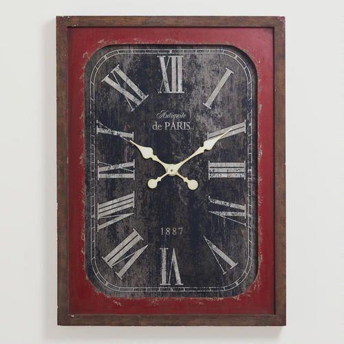 Red Victoria Vintage Wall Clock Wall Clock Vintage Wall Clock Clock