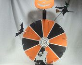 "Spooky Halloween chalkboard prize wheel 18"" Ready to ship! Only 1!"