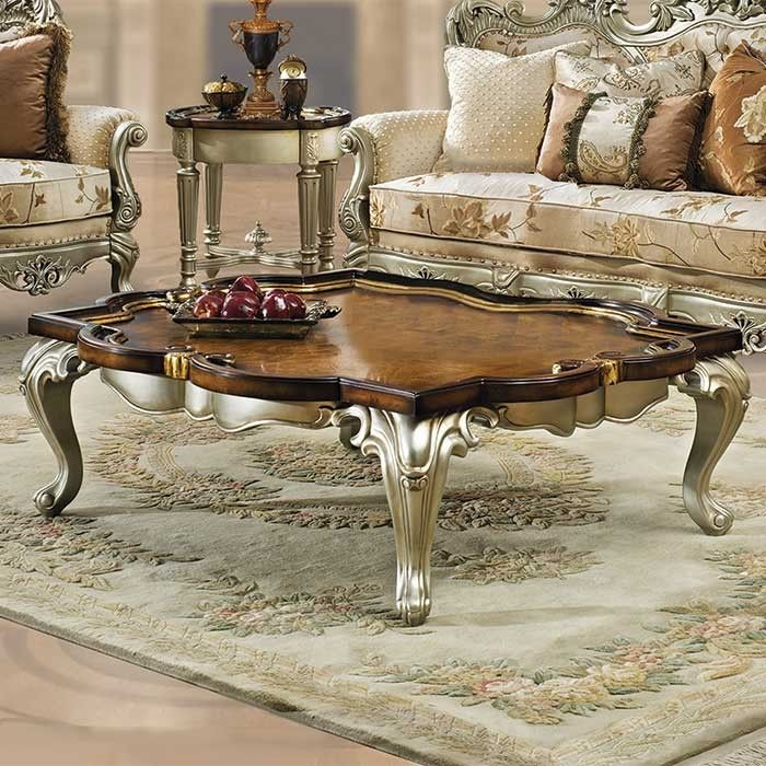 Celeste Antique White Coffee Table Coffee Table Victorian