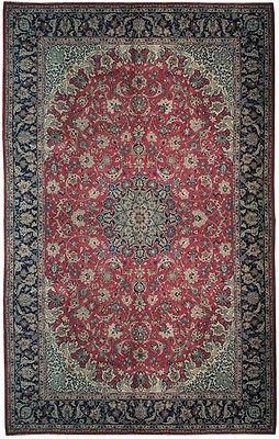 10x16 Persian Isfahan Wool Vintage Estate Rug This Authentic And Genuine Hand Knotted Rug Displays Persian Isfahan Rugs Handmade Area Rugs Round Area Rugs