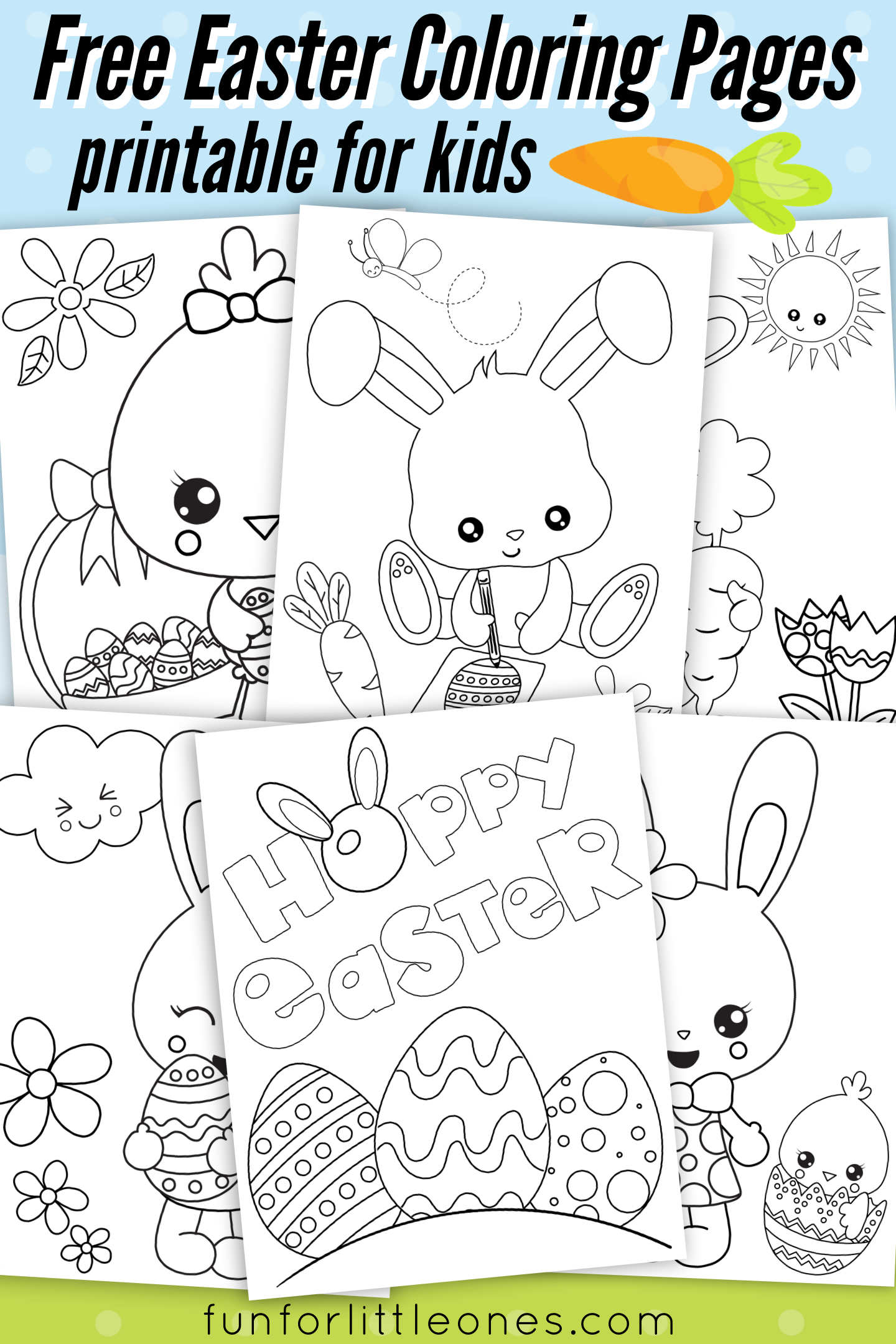 Easter Coloring Pages For Kids Free Printable Fun For Little Ones Easter Printables Free Free Easter Coloring Pages Easter Coloring Pages Printable