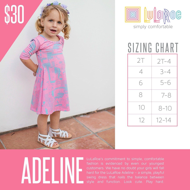 2016 LuLaRoe Adeline Sizing Chart Childrens dress
