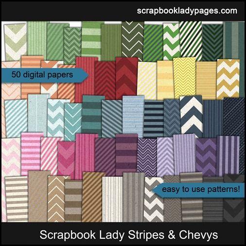 Scrapbook Lady Stripes preview