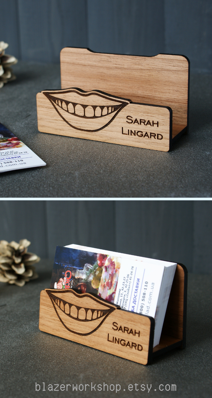 Personalized Dentist Gift Business Card Holder Dental Desktop Case Custom Cardholder Doctor Orthodontist Hygienist