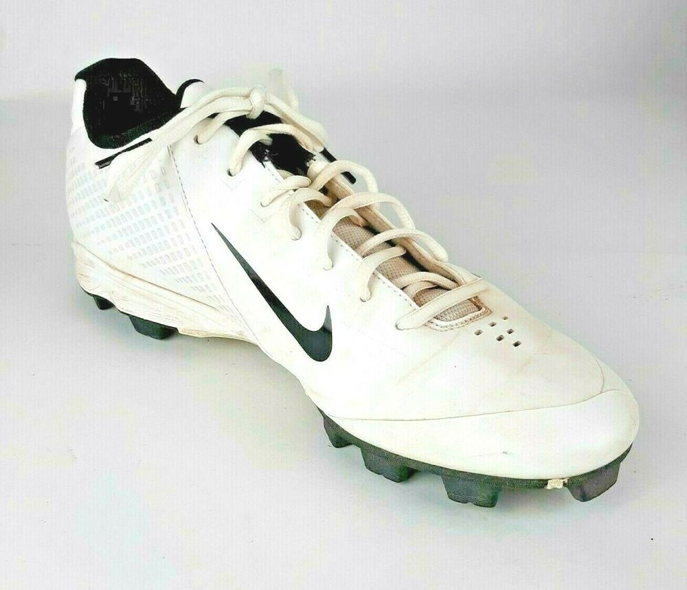 Nike mens power channel shoes size 12 white cleats