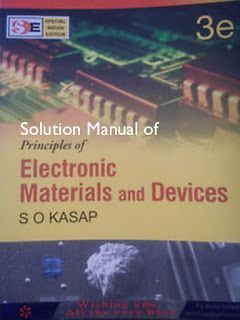 Principles Of Electronic Materials Devices 3rd Edition Solution