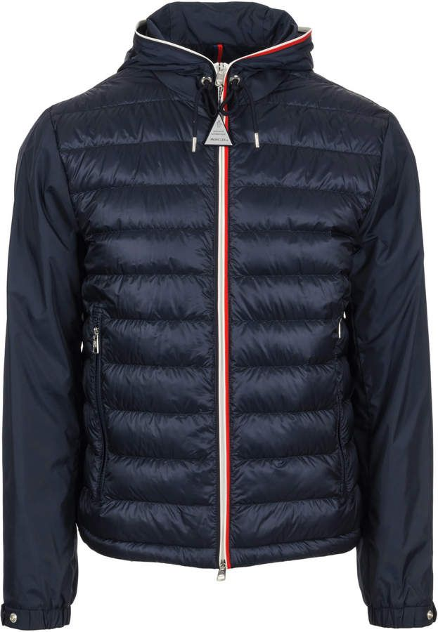 MONCLER Moncler Men'S Blue Wool Outerwear Jacket'. #moncler