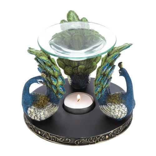 VERDUGO GIFT Peacock Plume Candleholder