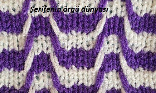 Sponsored Links Two Color Wavy Knit Pattern 7 Width 500