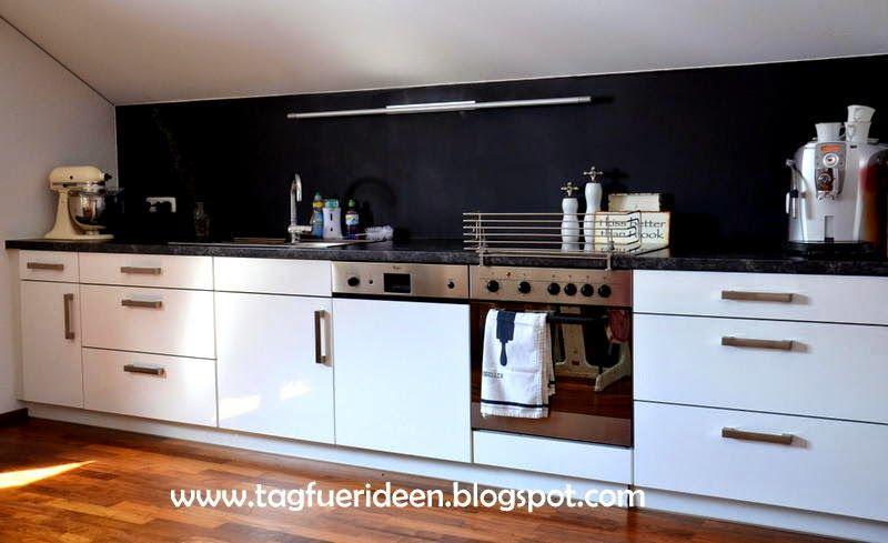 k chenr ckwand mit tafellack deko pinterest fur. Black Bedroom Furniture Sets. Home Design Ideas