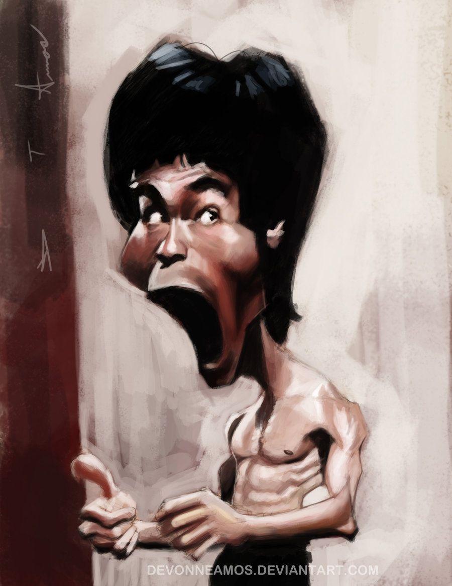 Bruce Lee By Devonneamos On Deviantart Caricature Sketch Caricature Artist Caricature