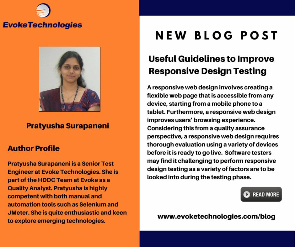 Useful Guidelines To Improve Responsive Design Testing Web Design Software Testing Design