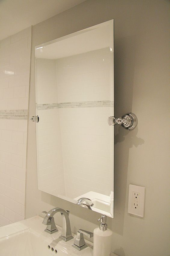 Gallery For Website DIY Pivoting Mirror for the Bathroom