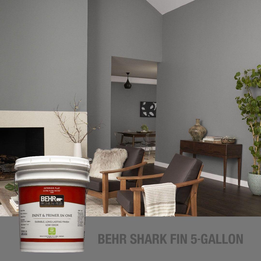 behr premium plus 1 gal ppu24 19 shark fin flat low odor on behr premium paint colors id=36150