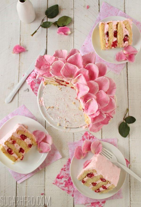 Raspberry-Rose Cake Recipe