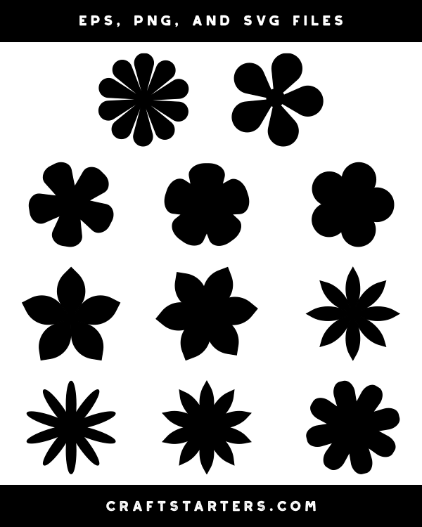 Simple Flower Silhouette Clip Art Flower Silhouette Clip Art Simple Flowers
