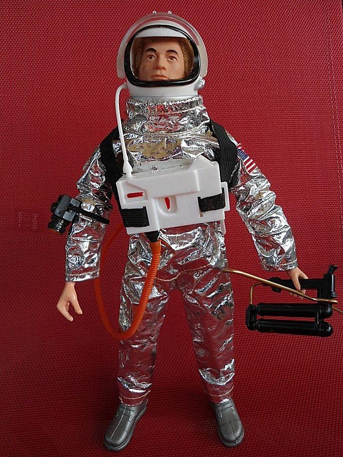 "NEW GI JOE SPACE ASTRONAUT HELMET FOR 12/"" ACTION FIGURE WHITE ACCESSORY"