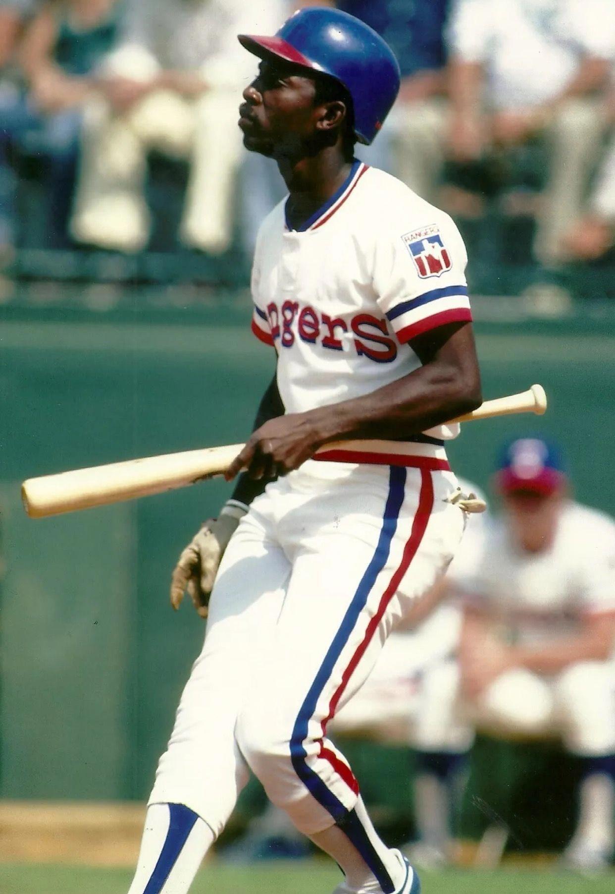 Mickey Rivers baseballuniforms Mlb texas rangers, Mlb