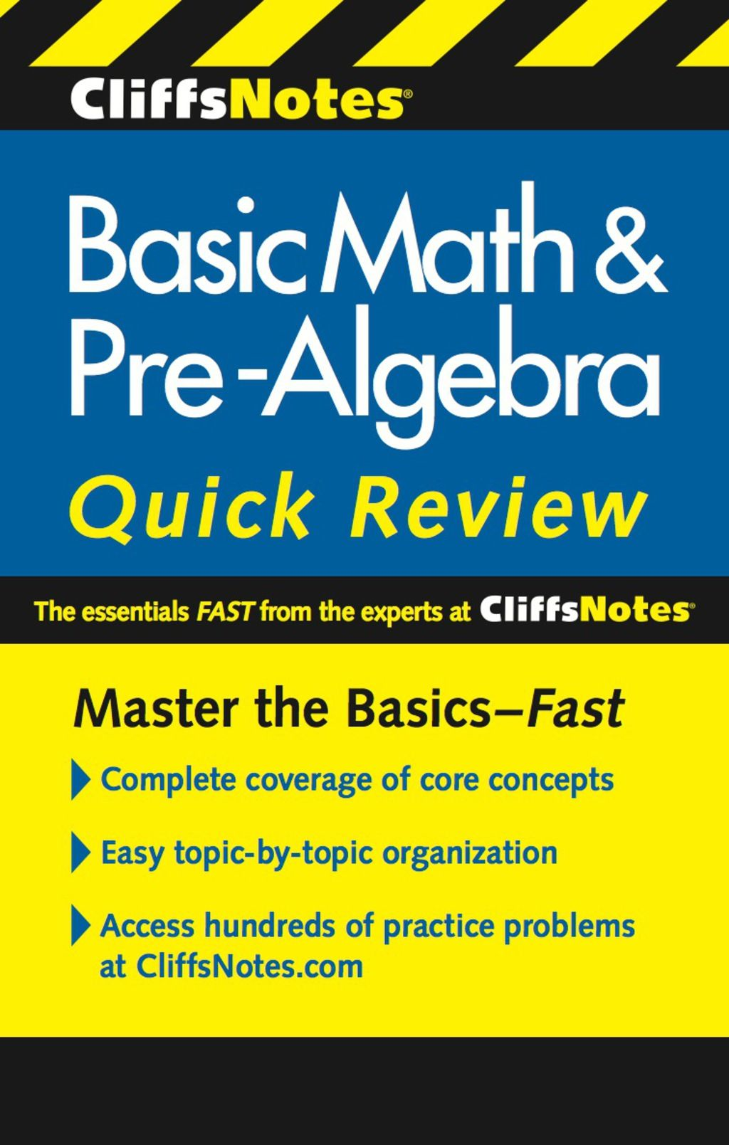 Cliffsnotes Basic Math Amp Pre Algebra Quick Review 2nd