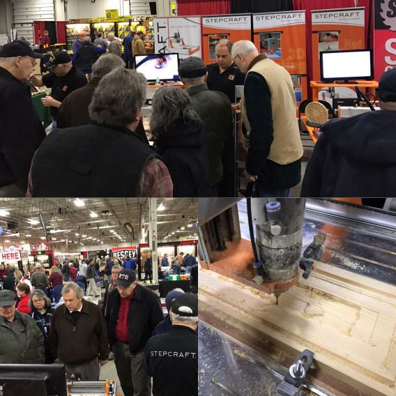 Lots of interest at the STEPCRAFT booth at The Woodworking ...