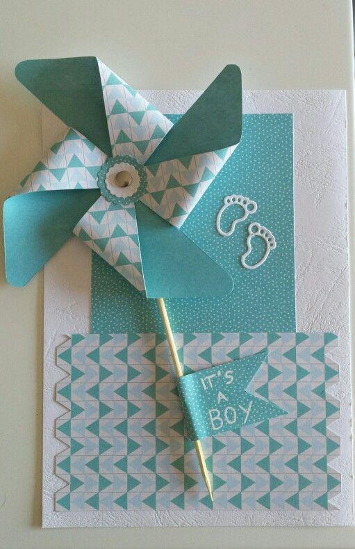 Preferenza Biglietto nascita scrapbooking | Biglietti auguri nascita fai da GY88