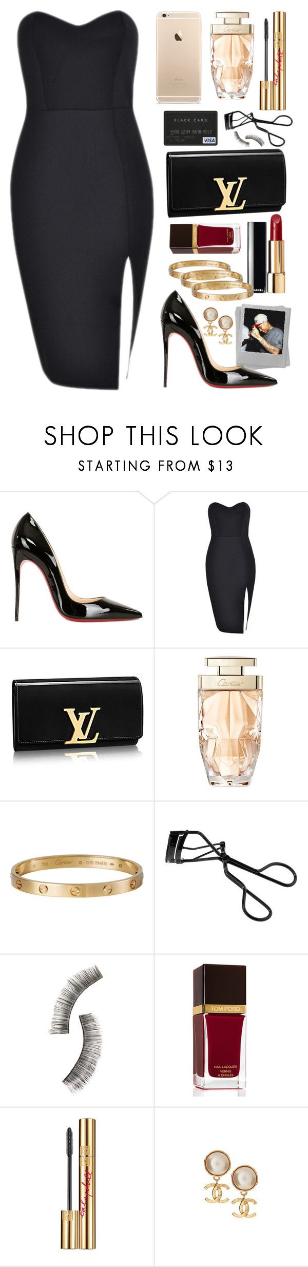 """Besos al aire."" by miumiu1 ❤ liked on Polyvore featuring Christian Louboutin, Louis Vuitton, Chanel, Cartier, Bobbi Brown Cosmetics, Beauty Is Life, Tom Ford and Yves Saint Laurent"