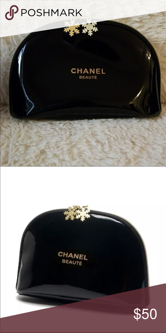 cadf6870b9c2 Authentic VIP gift Chanel snowflake makeup bag Brand new Chanel makeup bag  from beauty counter. I have 2 sizes available. $25 for the Medium and $30  for te ...