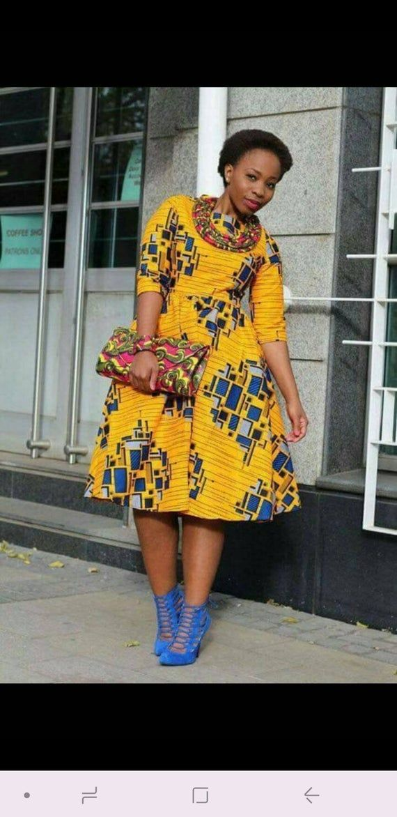 Shike African skater dress / Ankara print dress / African print dress /